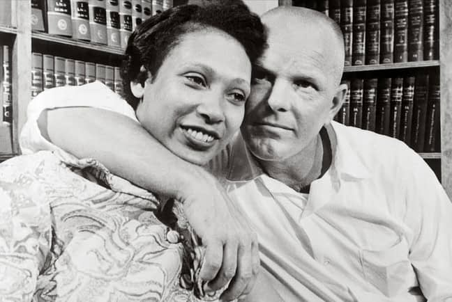 Midred Jeter and Richard Loving in 1967. The couple was jailed for a year for violating Virginia's statute against interracial marriage.