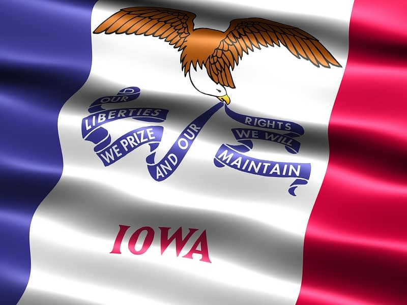 Flag of the state of Iowa