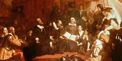 Pilgrims at Delft Haven