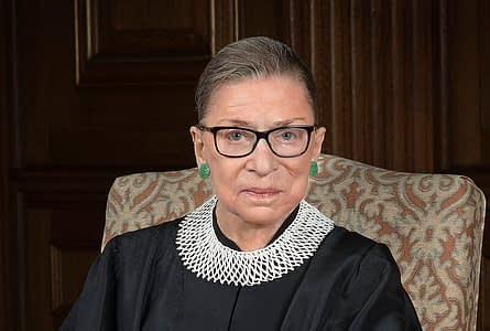 Ruth Bader Ginsburg in 2016. Official Supreme Court portrait.