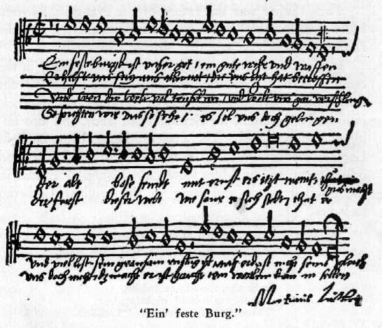 A Mighty Fortress - With Luther's Signature. Wikimedia Commons.