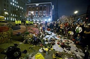Mourners after Boston Marathan Bombing - April 19, 2013 - Flickr: Vjeran Pavic (Creative Commons License)